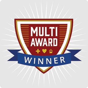 multi-award winner badge