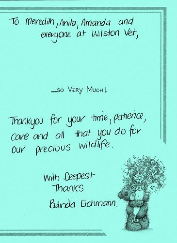 wildlife note