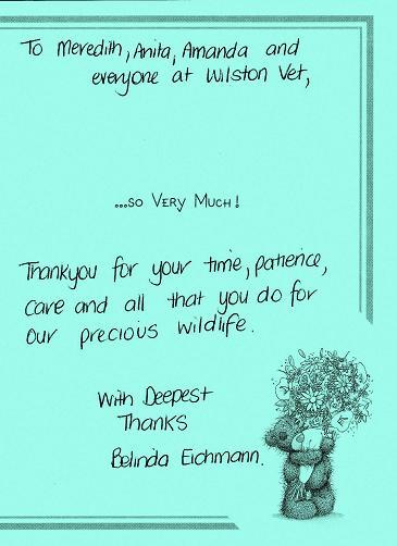 wildlife note